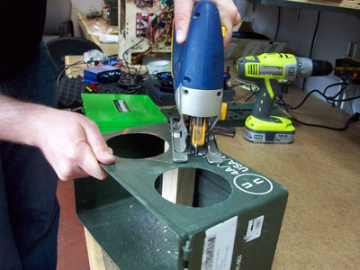 Cutting the Holes: Speakers and  Bass Tube