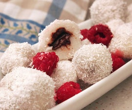 Rice Flour Balls With Chocolate
