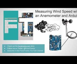 Using an Anemometer and Arduino to Measure Wind Speed