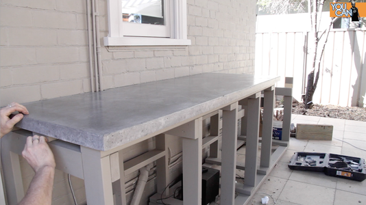 Set the Countertop in Place