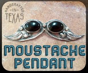 Moustache Pendant Silversmith and Setting a Stone