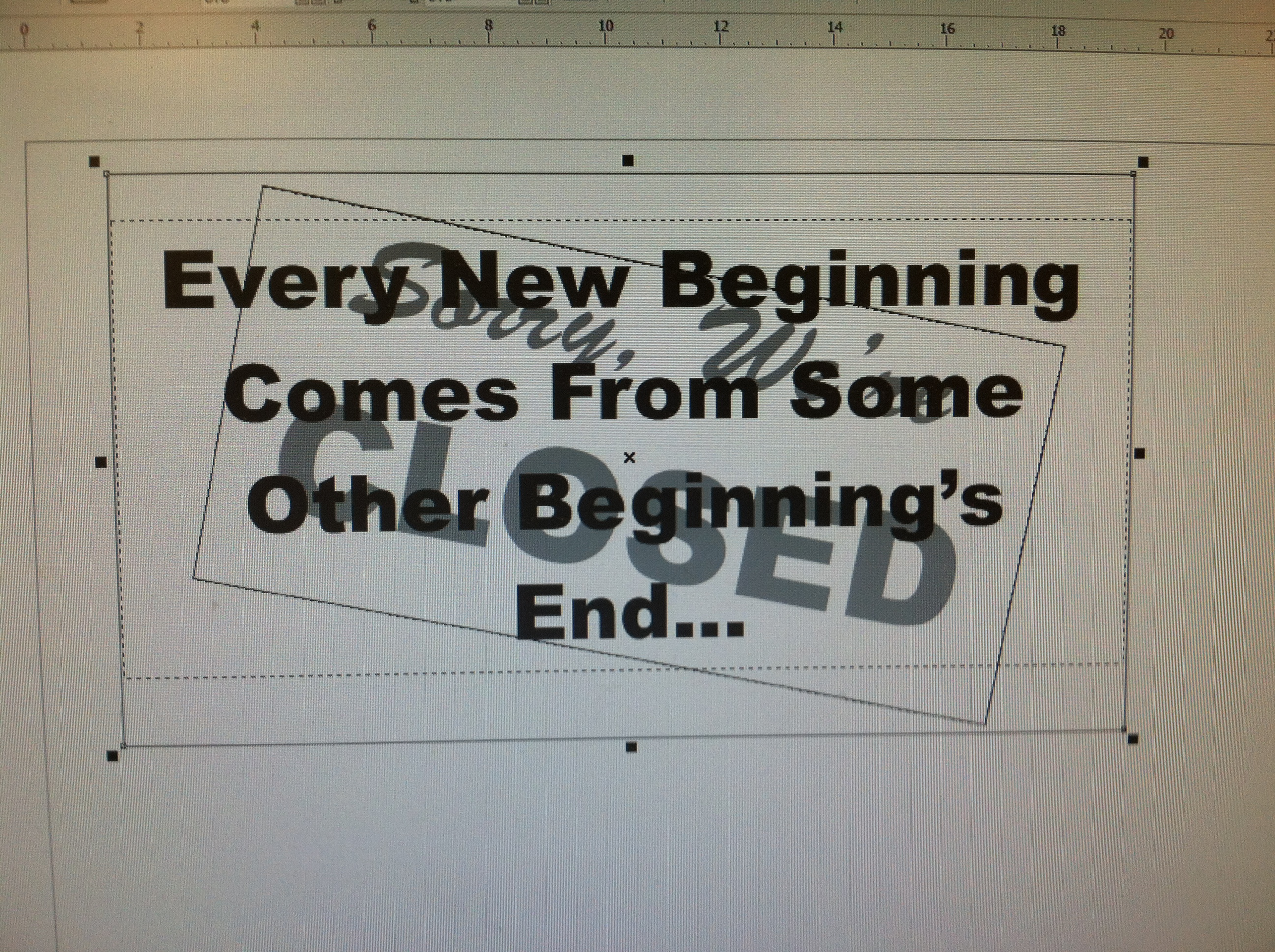 Picture of Laser Cut Bar Sign Tribute - Closing Time - Semisonic