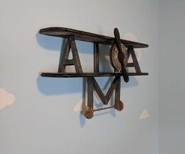 Vintage Biplane Shelf