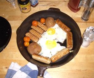 One Pot Veggie Super Six Breakfast