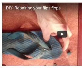 How to Repair Your Broken Flip Flops