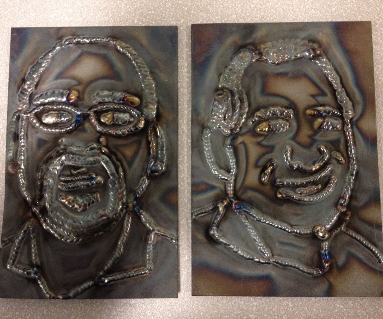 Welded Portraits Instructables