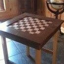 Checkerboard Game Table
