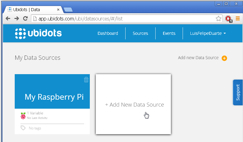 Picture of Setup Your Ubidots Account and Variables
