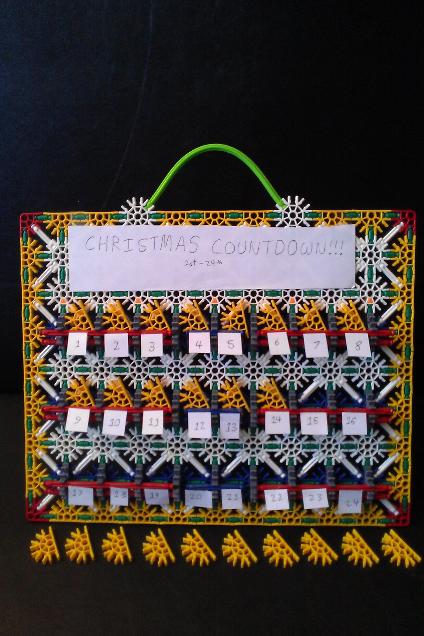 Picture of K'nex Advent Calendar!!!