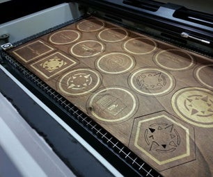 Laser Cut Plywood Coasters