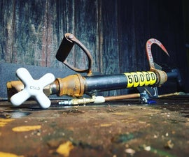 Flamethrower made with Hardware Store Parts