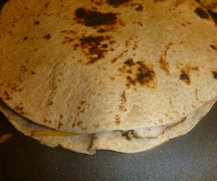 Quesadillas Made With Left Over Bar B Que Meat or Vegetables