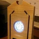 Printed Wood Clock Phone Stand
