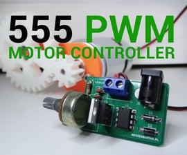 555 PWM Motor Controller