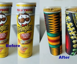 Reuse Pringles Containers