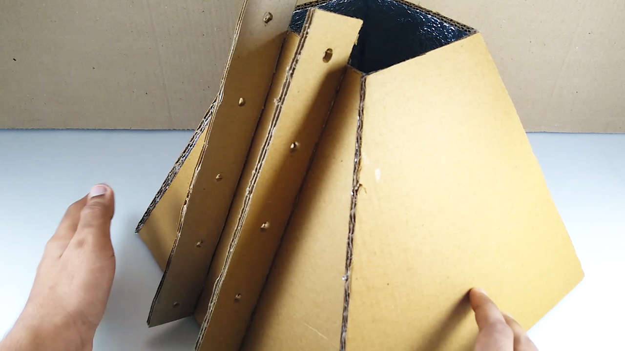 Picture of Stick Those 2 Cardboard Strips on the Marked Parallel Lines ( Refer Video )