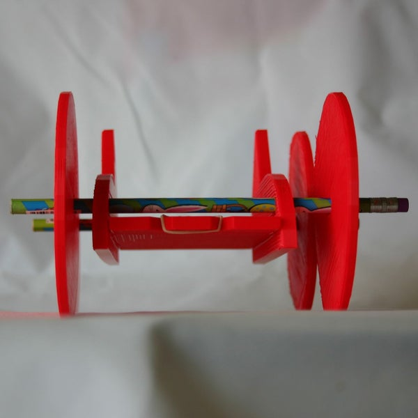 Rubber Band Car Printed in 3D