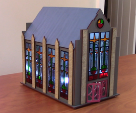 How to Design and Laser Cut a Stained Glass Chapel for Tabletop Terrain
