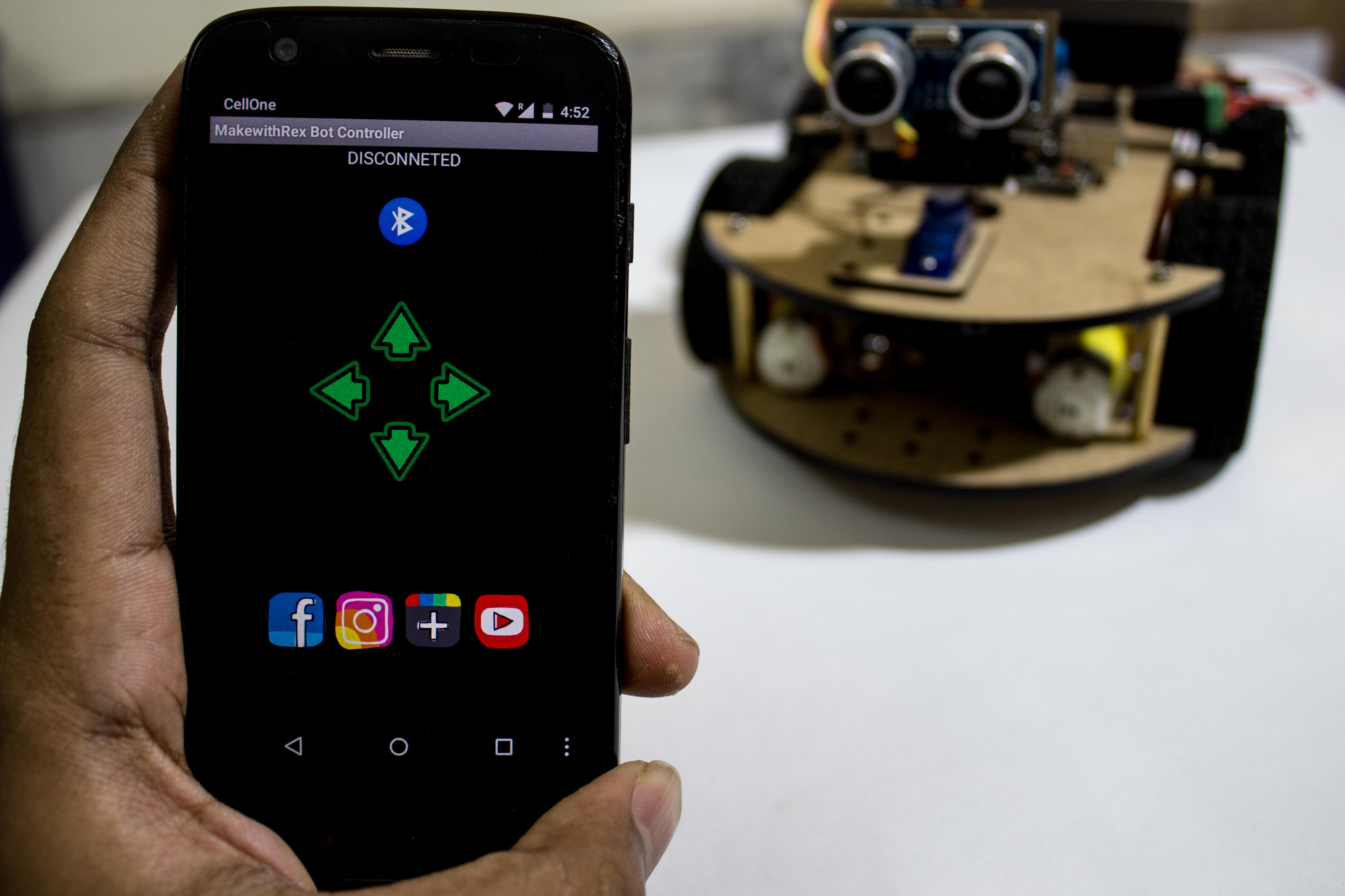 Picture of Smartphone Controlled Arduino Robot