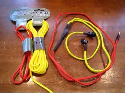 Tangle-Free Paracord Headphones