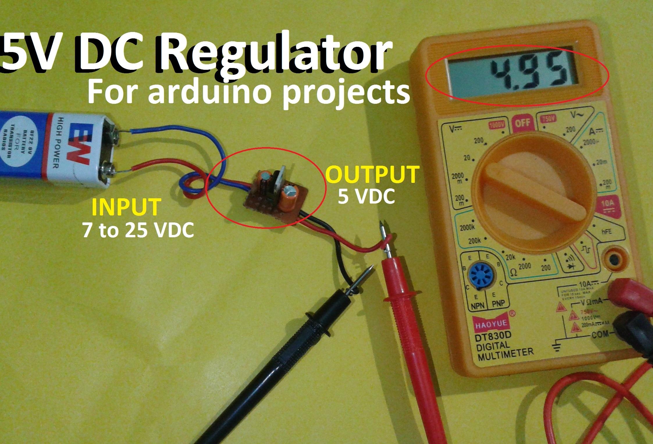 Picture of 7805 Regulator (5V) Module: Easy Tutorial