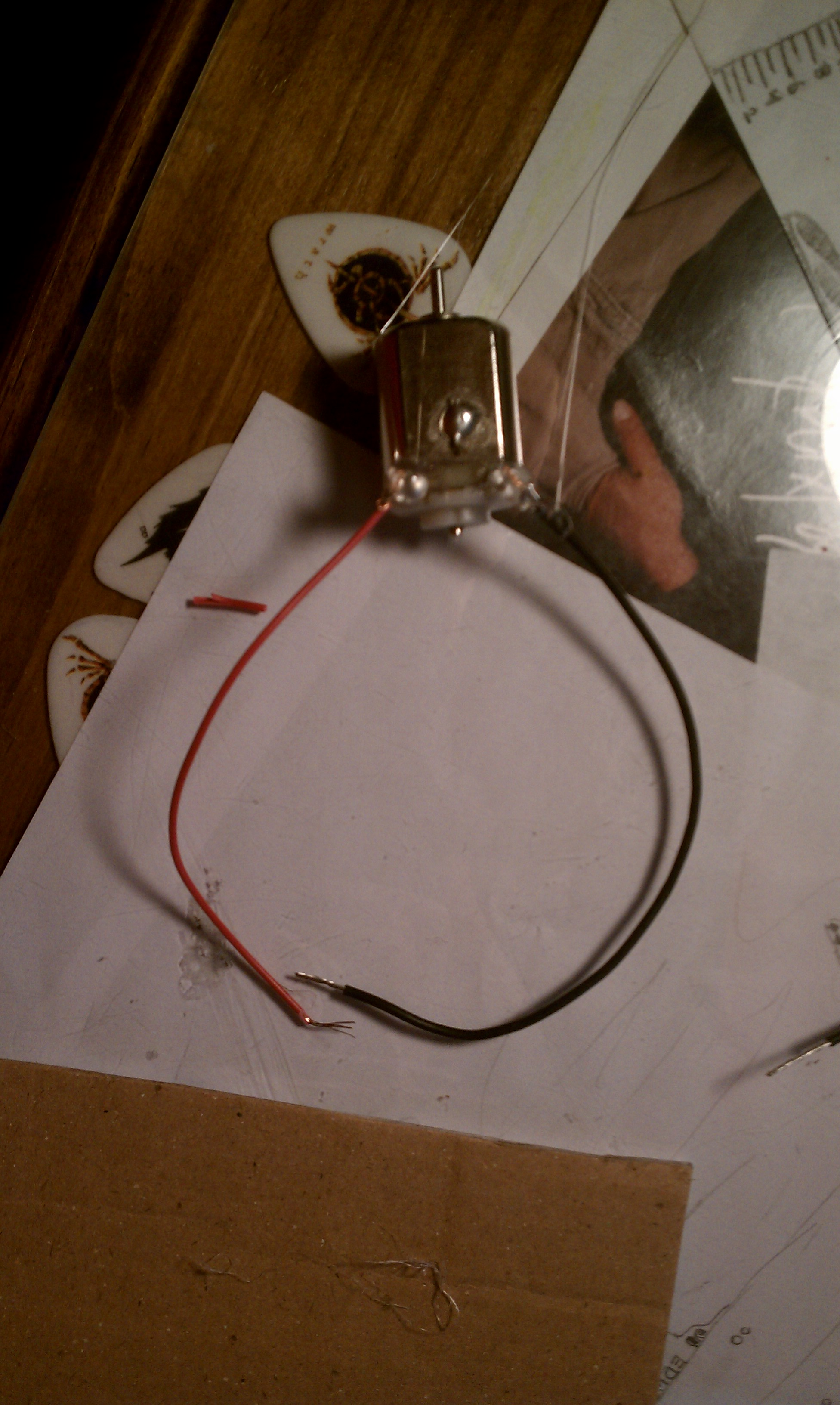 Picture of Add Wires to the Motors