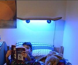 Skateboard Shelf With LED's!