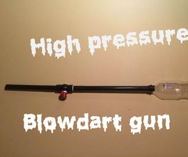 High speed blowdart gun