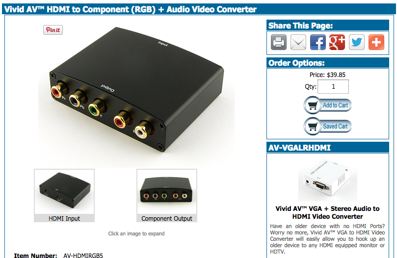 Picture of Get Your HDMI to Component Converter