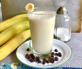 3 Step Banana Milkshake