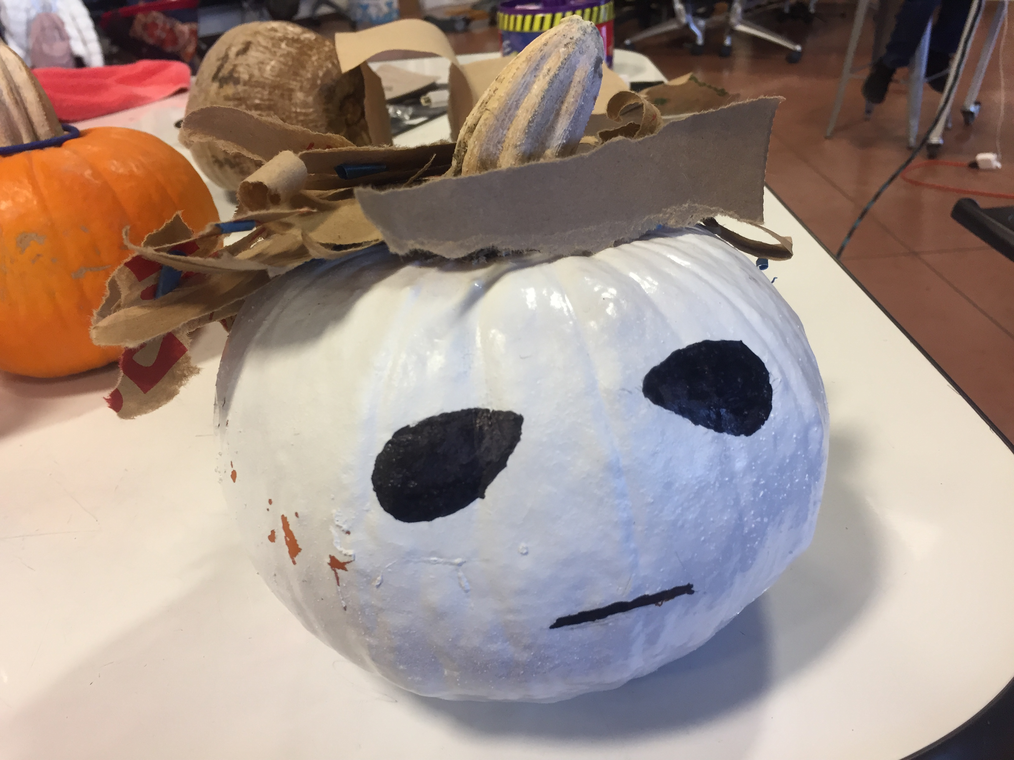 Picture of How to Make a Michael Myers Themed Pumpkin.