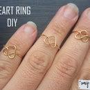 Heart rings DIY