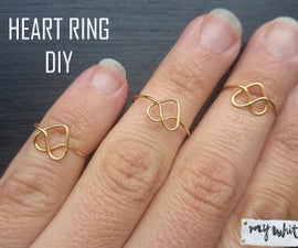 Heart rings DIY