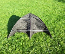 Build a delta kite from an umbrella