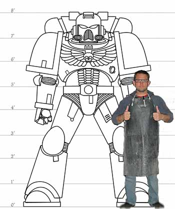 Picture of Build Lifesize Space Marine Armor in 352 Terribly Complicated Steps