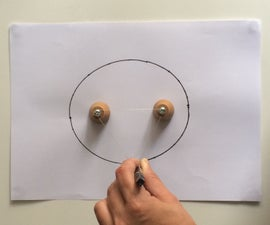 How to draw an oval with abandoned drawer knobs