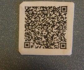 QR-Code Cross Stitch Patch