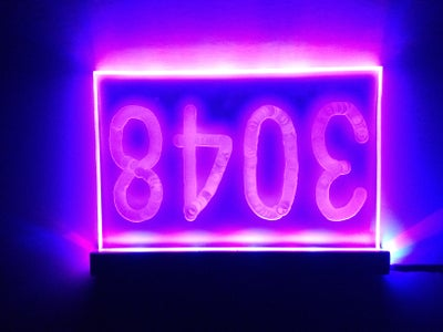 LED House Number Plexiglass