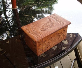 Carved Cherry Wood Box