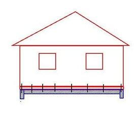 Earthquake mitigation for a slab-on-grade wood frame house