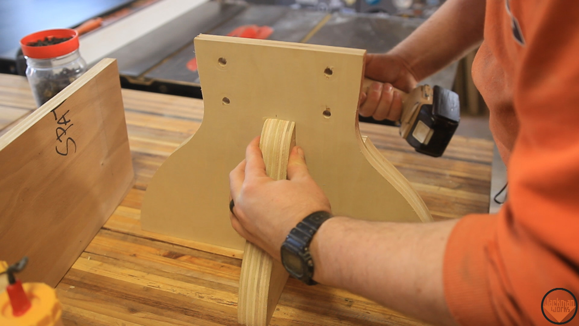 Picture of Installing the Bracket & Table Top
