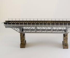 Building a 1:160 (N) Scale Model of a Truss Railroad Bridge