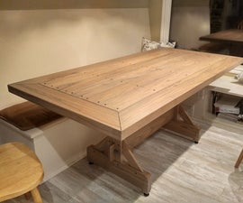 Dining Table From Recycled Material