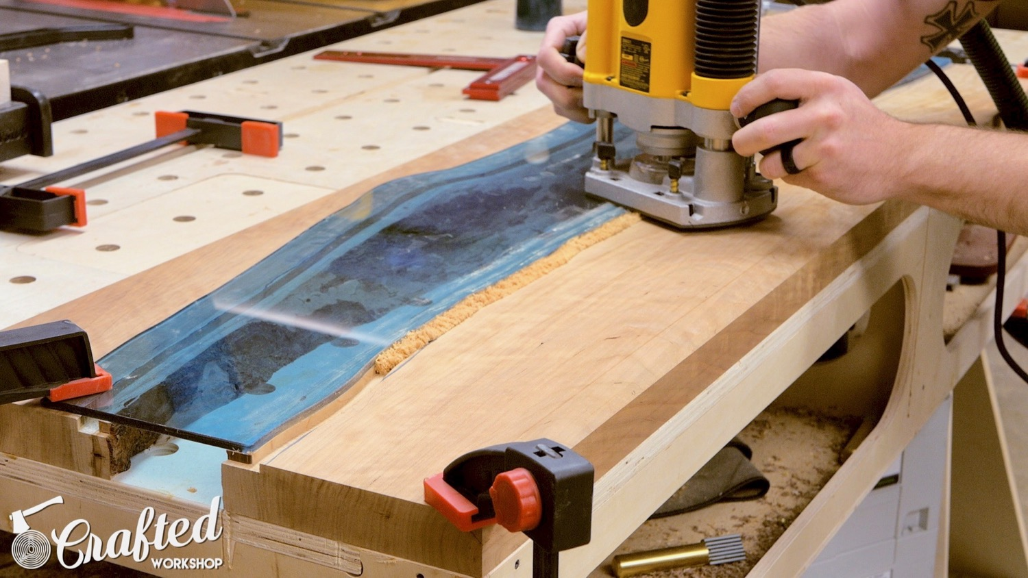 Picture of Route Inset Area Into Top of Slabs for Glass