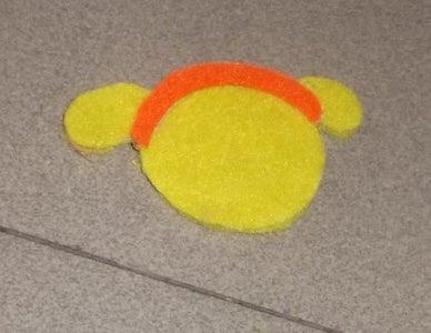 Use the Glue-gun to Glue This Headband Onto the Head.