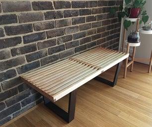 Make It: Mid-Century Modern Bench