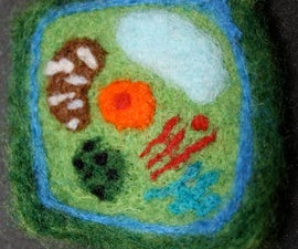Needle Felted Plant Cell