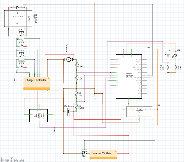Picture of Final Circuit Diagram and Code