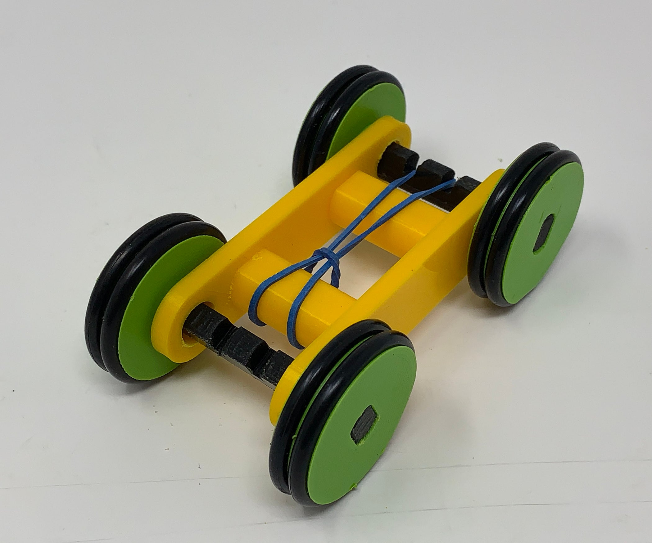 Designing A Simple 3D Printed Rubber Band Car Using