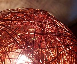 Copper wire ball Lamp